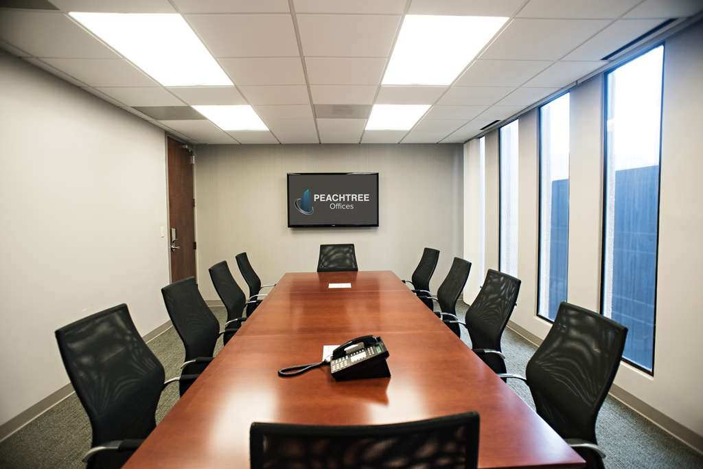 Deluxe Conference Room Downtown ATL Peachtree Offices - 14 person conference table