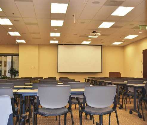 Medium Conference Center & Training Room: Fits 24 to 60 People